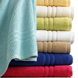 Martha Stewart Collection Quick Dry Bath Towel Collection - Fluffy towels are a must in a kids' bathroom — or any bathroom. I like to get a different color for each child.