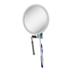 Zadro - Zadro 5X-1X Ultra Adjustable Magnification Fogless Mirror -Z500 - The Z'Fogless Adjustable Magnification Mirror is the perfect shower accessory to help you achieve the perfect shave, in the shower. A patented hydrophobic coating repels water, keeping the break-resistant mirror surface fogless, even in the hottest and steamiest showers. A unique feature of the Z'Fogless Adjustable Magnification Mirror is its adjustable magnification. Simply turn the dial surrounding the mirror to adjust the magnification between 1X and 5X and have the perfect magnification for whatever youre doing.