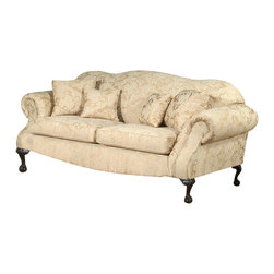 Chelsea Home Furniture - Chelsea Home Queen Elizabeth Sofa in Madison Straw - Fabric Swatch Fabric Sample Avaliable by Mail, Cover Choices Madison Straw, Frame Construction Hardwood frame, Cushion Composition Dacron Wrapped 15 Density foam Cushions, Fabric Polyester Blend, Sofa 1