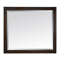 "Avanity - Avanity Madison 36 x 32 Mirror, Light Espresso (MADISON-M36-LE) - Avanity MADISON-M36-LE Madison 36"" x 32"" Mirror, Light Espresso"
