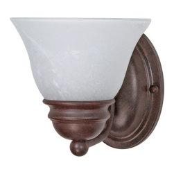 "Nuvo Lighting - Nuvo Lighting 60/344 Single Light Reversible Lighting 6.25"" Wide Bathroom Fixtur - *Single light reversible lighting bathroom fixture featuring an alabaster glass shade"
