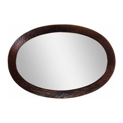 The Copper Factory - Copper Factory Copper Framed Oval Mirror Copper 26 1/2 x 18 1/2 Inch - Copper Factory Copper Framed Oval Mirror Copper 26 1/2 x 18 1/2 Inch