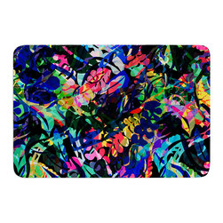 "KESS InHouse - Gabriela Fuente ""Flora Splash"" Dark Rainbow Memory Foam Bath Mat (24"" x 36"") - These super absorbent bath mats will add comfort and style to your bathroom. These memory foam mats will feel like you are in a spa every time you step out of the shower. Available in two sizes, 17"" x 24"" and 24"" x 36"", with a .5"" thickness and non skid backing, these will fit every style of bathroom. Add comfort like never before in front of your vanity, sink, bathtub, shower or even laundry room. Machine wash cold, gentle cycle, tumble dry low or lay flat to dry. Printed on single side."