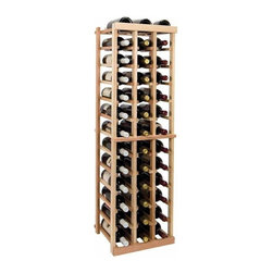 Wine Cellar Innovations - Vintner 4 ft. 3-Column Individual Wine Rack (Premium Redwood - Unstained) - Choose Wood Type and Stain: Premium Redwood - UnstainedBottle capacity: 39. Three column wine rack. Versatile wine racking. Custom and organized look. Beveled and rounded edges. Ensures wine labels will not tear when the bottles are removed. Can accommodate just about any ceiling height. Optional base platform: 14.19 in. W x 13.38 in. D x 3.81 in. H (5 lbs.). Wine rack: 14.19 in. W x 13.5 in. D x 47.19 in. H (6 lbs.). Vintner collection. Made in USA. Warranty. Assembly Instructions. Rack should be attached to a wall to prevent wobble
