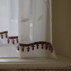 eclectic curtains by Cori Halpern, BAA Int. Des., NCIDQ
