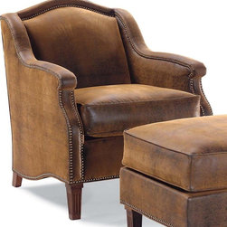Lounge Chair w Tight Back - This rich, leather lounge chair is ideal for a family room or home library.  I can imagine many an evening spent reading mysteries in this cozy retreat.