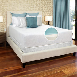 Select Luxury - Select Luxury Gel Memory Foam 14-inch Medium Firm King-size Mattress Set with EZ - The next generation of memory foam mattresses comes in the form of this gel. The top layer of the mattress provides the cooling effect of gel combined with the pressure relieving properties of high quality,made-in-the USA memory foam.