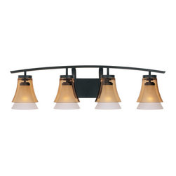 Designers Fountain - Designers Fountain 83104 Contemporary Four Light Bathroom Wall Fixture from the - Features: