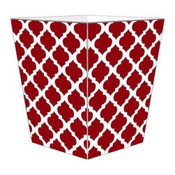 Marye Kelley - Chelsea Grande  Wastebasket, Red - Chelsea Grande Wastebasket