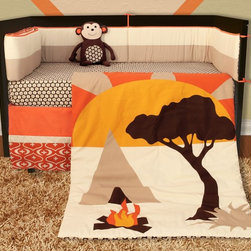 African Dream Crib Baby Bedding Collection - Our African Dream collection transforms your nursery into the ultimate safari experience, transporting your budding, little adventurer to the rugged African outback.  Stimulate the senses and feed baby's limitless imagination, as only a safari can.  Take your baby along for the trek through backcountry.  Sorry, binoculars not included.
