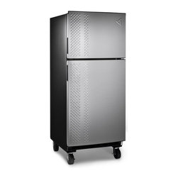 Gladiator - Gladiator Chillerator Garage Refrigerator- 33.9L x 29.5W x 73H inches Multicolor - Shop for Refrigerator from Hayneedle.com! The stainless steel Gladiator Chillerator Garage Refrigerator is an ENERGY STAR-qualified unit designed for the rugged garage lifestyle. It's built to withstand the intense heat and cold of the outdoors and maintain a consistent temperature within to keep food and drinks cool. With 19 cubic feet of interior storage space (14 cu. ft. refrigerator 5 cu. ft. freezer) you'll have more than enough room for your favorite snacks. And thanks to its locking casters you can easily move the refrigerator wherever you like around the shop so refreshment is always within reach! Measures 33.9L x 29.5W x 73H inches.About Gladiator GarageWorksGladiator GarageWorks is the leader in workspace organization and for good reason. With a complete line of ultra-durable well-designed and heavily tested pieces that fit together in nearly infintite ways they've got exactly what you've been dreaming of for your garage. Gladiator uses the best materials and smart thinking to create a stylish modular system backed by a great set of warranties. When you want the most out of your space get after it with Gladiator.