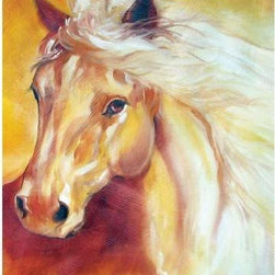 WL - 8 Inch Golden Solitude Sunlit Stallion Horse Theme Wall Art Painting - This gorgeous 8 Inch Golden Solitude Sunlit Stallion Horse Theme Wall Art Painting has the finest details and highest quality you will find anywhere! 8 Inch Golden Solitude Sunlit Stallion Horse Theme Wall Art Painting is truly remarkable.
