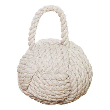 Mooring Rope Knot Door Stop - This quirky knot is designed to be a doorstop for your room. You don't have to live on a ship to put a nice ball of rope to use! Your cat might thank you, too.