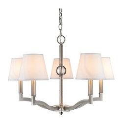 Golden Lighting - Golden Lighting 3500-5-CWH Waverly 5 Light 1 Tier Chandelier - Features: