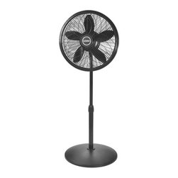 "Lasko Products - 18"" Pedestal Fan Black - Features:"