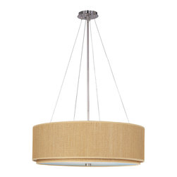 ET2 Contemporary Lighting - ET2 Contemporary Lighting E95165-101SN Elements 4-Light Pendants in Satin Nickel - The Elements collection offers the freedom of choice in lighting design. Start with the style selection - pendant, mini pendant, or wall sconce - then choose the right shape, square or circular, for the space. Wrap the selected Oil Rubbed Bronze or Satin Nickel lamp in one of five color options that will make just the right statement: Grass Cloth, White Weave, White Pleat, Crimson or Satin White. Finally, choose the perfect light source for the task. Whether fluorescent, xenon, or incandescent, this collection brings together all the right elements.