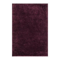 Classy Comfort Rug in Plum - This comfy shag rug offers a style and luxury treat to your feet. It's the perfect addition to your bedroom or any other space in your home where you would like comfort and a touch of class.
