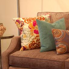 Contemporary Decorative Pillows by Cori Halpern, BAA Int. Des., NCIDQ