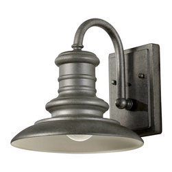 Murray Feiss - Murray Feiss Redding Station Outdoor Wall Mount Light Fixture in Tarnished - Shown in picture: Redding Station Wall Lanterns in Tarnished finish