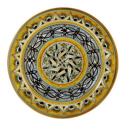 Artistica - Hand Made in Italy - Geometrico Toscana: Wall Plate (16d.) - Geometrico Collection: