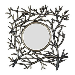"""Kenroy Home - Kenroy Home 60006 30"""" Wall Mirror Bramble Collection - 30"""" Wall Mirror from the Bramble CollectionKenroy Home offers the finest in decor, performance, and value.  Their chandeliers, ceiling lighting and indoor and outdoor wall lighting capture the essence of lighting technology, and combine it with styling points of view ranging from classical and traditional, to contemporary and casual.  Kenroy lamps and portable lighting utilize a wide variety of materials, and create artistic elements that complement your home furnishings as well as make their own statements.  Particular care is paid to hand applied polishing and painting, matched with the finest in glass and shade treatments.  Fountains are the latest Kenroy Home category entry, and are designed and crafted to blend with various interior and exterior decors. They add soothing movement and the gentle sounds of falling water to unique artistry created in real and simulated stone, metal and ceramics.Bring the outdoors in with realistic looking carved branches.  The rich wood finish is hand rubbed with metallic accents to add sparkle to any room."""