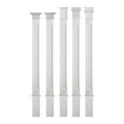 uDecor - FC-6021S Flat Column Set - Column setsare a great way to take the guessing out of your design concept. We've taken elements that work beautifully together, and offered them as a package. In this package, the column and base always stay the same; all you need to do is choose the capital that looks best to you. Choosing a quantity of one (1) means that you will recieve three pieces - the base, column, and capital. So if you're placing two columns on either side of an entryway, you'll want a quantity of two (2) sets.