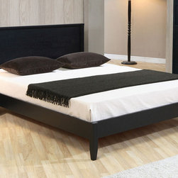 None - Cordaba Queen-size Platform Bed - Add a modern touch to your bedroom with this queen-size platform bed from Cordaba. A classic matte black finish and durable construction highlight this stylish bed.