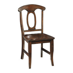 Standard Furniture - Standard Furniture Larkin Side Chair in Antique Cherry (Set of 2) - A bit of charming European country style flavors Larkin's delightful ambiance.
