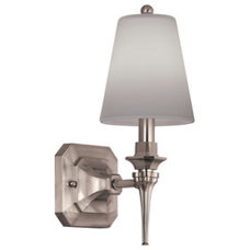 Shop Portfolio 1-Light Nickel Arm Sconce at Lowes.com