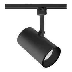 Juno Lighting - Trac-Master T313 PAR20 Flat Back Cylinder Track Light, T313b-Bl - The simple, sleek round design make the Flat Back cylinders one of Juno's most popular series
