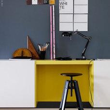 Contemporary  ikea colour block desk