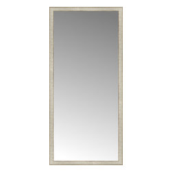 """Posters 2 Prints, LLC - 32"""" x 69"""" Libretto Antique Silver Custom Framed Mirror - 32"""" x 69"""" Custom Framed Mirror made by Posters 2 Prints. Standard glass with unrivaled selection of crafted mirror frames.  Protected with category II safety backing to keep glass fragments together should the mirror be accidentally broken.  Safe arrival guaranteed.  Made in the United States of America"""
