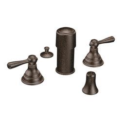 Moen - Moen Kingsley Two-Handle Bidet Faucet, Oil Rubbed Bronze (T5210ORB) - Moen T5210ORB Kingsley Two-Handle Bidet Faucet, Oil Rubbed Bronze