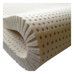 "Sleep On Latex - 2"" 100% Natural Latex Mattress Topper, Twin, Soft - This 2"" latex topper is made of 100% natural organic latex. It is perfect if you want to sleep on a natural organic surface. This item is great for anyone who wants to change the surface feel of their mattress. While it won't significantly change the overall feel of the mattress it is perfect for situations where your mattress simply needs a little tweak. The medium-firm version of this topper is great for adding a layer of pinpointed support to your mattress 1"" toppers can be used in conjunction with our thinner toppers to provide tiered support. Please note that this topper is cut from a thicker piece of foam. Because of this the hole pattern and structure on our 1"" toppers can vary. This will not result in difference in performance."