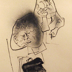 William Gropper, Lawyer and Client, Lithograph - Artist:  William Gropper, American (1897 - 1977)