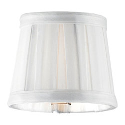 Elk Lighting - Elk Lighting Shade in White - This Collection Boasts A Substantial Solid Clear Crystal Center Column That Is Cut And Polished To Perfection.��_��__Hand-Formed Blown Glass Arms Taper Outward To Hold Cut Crystal Bobeches Which Is Carefully��_��__Complimented By��_��__Metal Accents Finished In Polished Chrome. Shade (1)