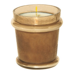 "Everybody's Ayurveda - Space Filled Votive Ayurvedic Candle - Sepia - This spicy, enchanting fragrance combines exotic flowers, hebs and healing spices to create an aura of mystery. Filled Votive. 100% soy wax Ayurvedic Candle in Glass. Made in the U.S.A. 2 1/2"" Wide x 2 1/2"" Deep x 3"" Tall."