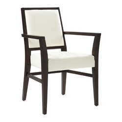Sunpan - Citizen Armchair, Ivory - Contemporary armchair made with geometric contours