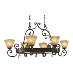 Golden Lighting - GB Pr62 Traditional Classic Six Light Pot RackMeridian Collection - Golden Lighting specializes in the design and manufacture of high quality residential lighting products and accessories.