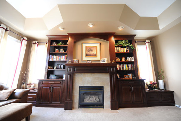 Contemporary Living Room by Gipman Millwork