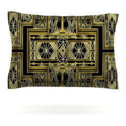 """Kess InHouse - Nika Martinez """"Golden Art Deco"""" Pillow Sham (Woven, 40"""" x 20"""") - Pairing your already chic duvet cover with playful pillow shams is the perfect way to tie your bedroom together. There are endless possibilities to feed your artistic palette with these imaginative pillow shams. It will looks so elegant you won't want ruin the masterpiece you have created when you go to bed. Not only are these pillow shams nice to look at they are also made from a high quality cotton blend. They are so soft that they will elevate your sleep up to level that is beyond Cloud 9. We always print our goods with the highest quality printing process in order to maintain the integrity of the art that you are adeptly displaying. This means that you won't have to worry about your art fading or your sham loosing it's freshness."""