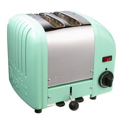Dualit 2-Slice Toaster, Mint Green - This retro toaster is so fun, and it's a great way to bring a splash of color and a '50s vibe into the kitchen. It's practical and pretty!