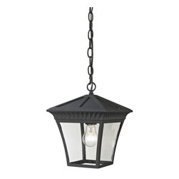 Cornerstone - Cornerstone Ridgewood 8411EH/65 Pendant Lantern Medium in Matte Texetured Black - 8411EH/65 Pendant Lantern Medium in Matte Texetured Black belongs to Ridgewood Collection by Cornerstone Outdoor Pendant (1)