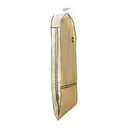 Florida Brands - Florida Brands Suit Length Garment Bag in Beige/Gold - Bags folds in half for easy transport and storage