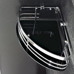 Nameeks - Corner Shower Basket 1301 | Nameeks - Made in Italy. A part of Toscanaluce by Nameek's.Enhance your modern bath motif with the Corner Shower Basket 1301. This shower basket helps keep all your shower necessities handy for an efficient and enjoyable shower. It features high-quality plexiglass and brass construction for reliable durability. Select from a variety of colors to suit your current bath environment. Product Features: