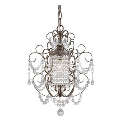 Minka Lavery - Minka Lavery ML 3121 1 Light 1 Tier Crystal Chandelier from the Mini Chandeliers - Single Light Single Tier Crystal Chandelier from the Mini Chandeliers CollectionFeatures: