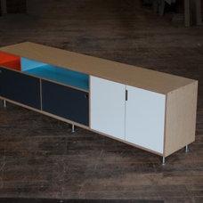 Modern Media Storage by Kerf Design