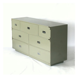 Campaign Dresser with Seven drawers - Seven Drawer Campaign Dresser.