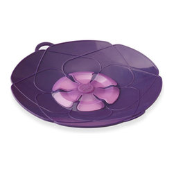 Kuhn Rikon Spill Stopper Set Of 2 Purple - Tired of pots boiling over and making a mess on your stovetop? Use the Kuhn Rikon Spill Stopper and never worry about pots boiling over again! Designed in Germany  our Spill Stopper can be used as both a lid and a splatter guard.  Made of heavy silicone that is heat resistant up to 400° F.  Set includes 2 stoppers.Product Features                        Perfect for pasta  rice  soups  milk and starchy liquids            German invented and designed            Microwave and dishwasher safe            Use as both a lid and a splatter guard            10 Inch Diameter            Made of heavy silicone that's heat resistant up to 400° F
