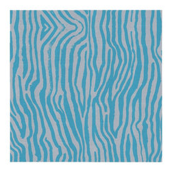 Guildery - Swimming Zebra Fabric: Bicyle - Fabric by the yard for your custom sewing or upholstery projects. Fabric is sold in full-yard increments.